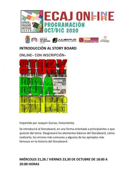 La Concejalía de Juventud de Molina de Segura inicia el miércoles 21 de octubre la formación Workshop: Introducción al Storyboard - 1, Foto 1
