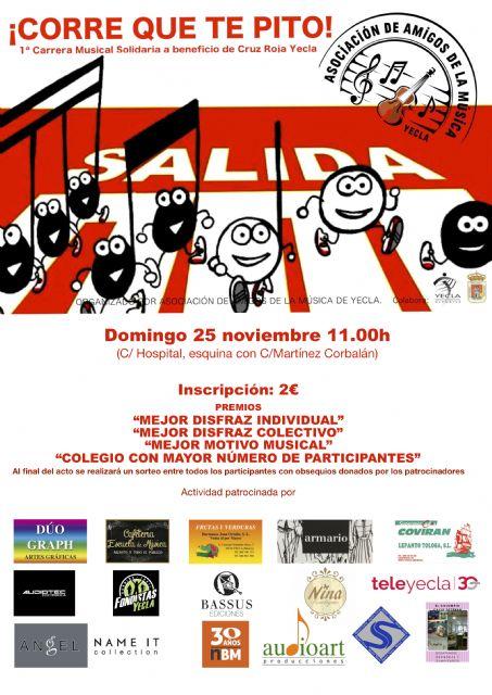 Asociación amigos de la música de Yecla carrera músical solidaria Corre que te pito - 1, Foto 1