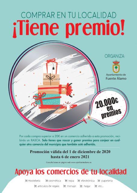 El Ayuntamiento de Fuente Álamo entregará 20.000 en premios por comprar en los comercios del municipio - 1, Foto 1