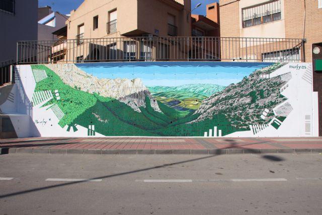 El Valle de Leiva, imagen del segundo mural de Murfy, Foto 1