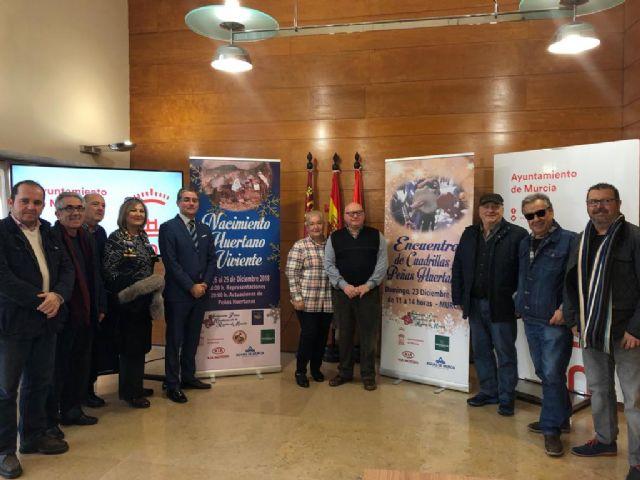 El Encuentro de Cuadrillas y Peñas Huertanas llenará el domingo las calles de Murcia de villancicos y aguilandos