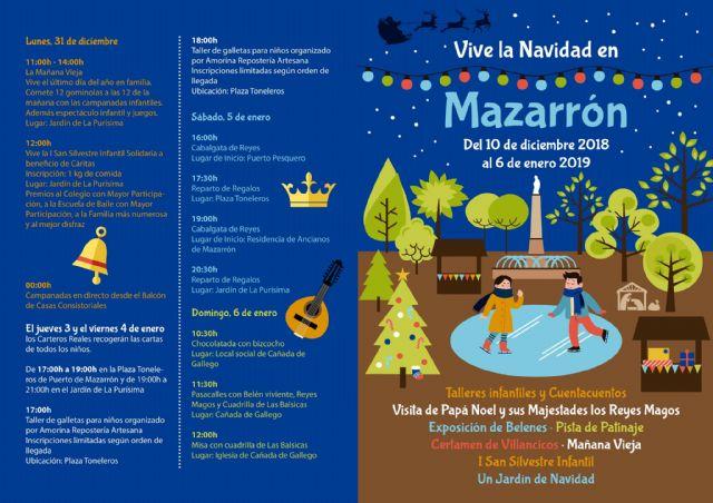 Mazarrón celebra la Navidad con cerca de medio centenar de actividades repartidas en diferentes puntos del municipio, Foto 2