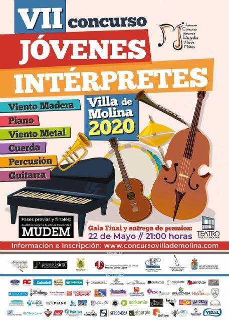 El VII Concurso de Jóvenes Intérpretes Villa de Molina 2020 inicia su andadura en seis modalidades - 1, Foto 1