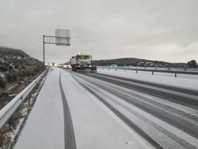 Se declara nivel Naranaja por nevadas en Altiplano, Noroeste, Valle de Guadalentín, Lorca y Aguilas