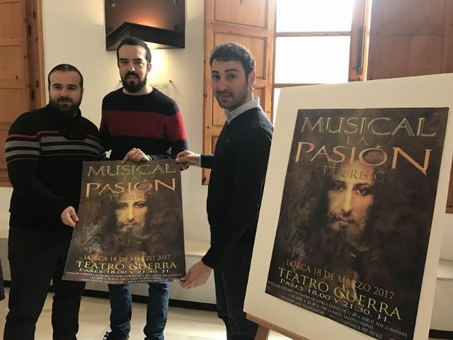 El Teatro Guerra de Lorca acogerá el sábado 18 de marzo la representación del musical La Pasión de Cristo, Foto 1