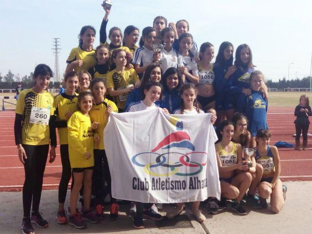 El Club Atletismo Alhama triunfa en el Campeonato Regional por Clubes Sub-Infantil, Foto 1