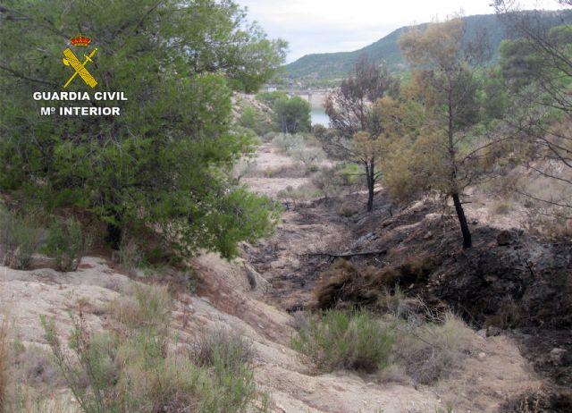 La Guardia Civil esclarece un incendio forestal ocurrido en Ojós con la investigación de un agricultor - 1, Foto 1