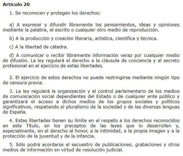 El artículo 20 de la Constitución: ¿el derecho a quemar las calles?, Foto 2