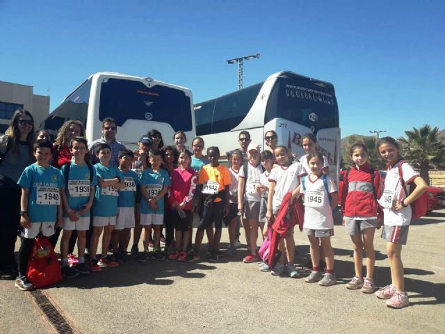 Several schoolchildren of Totana participate in the Regional Final of Cross-Country, in categories alevín and benjamín
