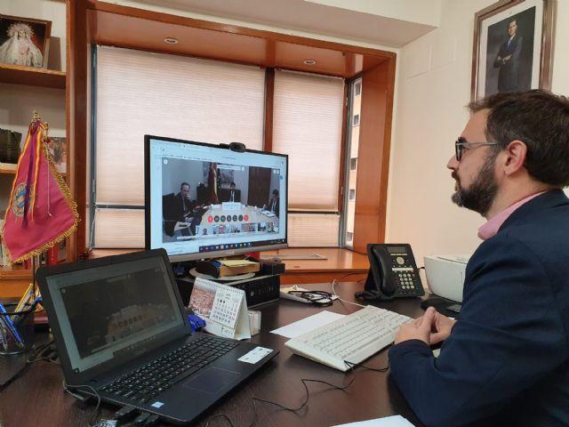 El Alcalde de Lorca destaca la importancia de la coordinación entre administraciones durante la videoconferencia mantenida con el Presidente de la Comunidad - 1, Foto 1