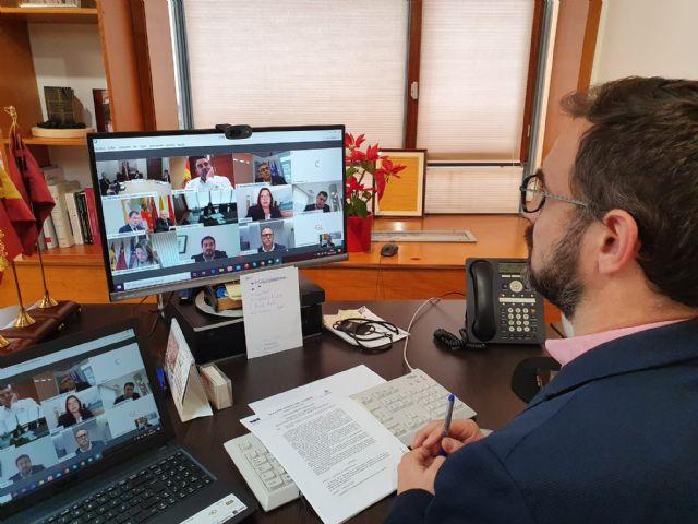 El Alcalde de Lorca destaca la importancia de la coordinación entre administraciones durante la videoconferencia mantenida con el Presidente de la Comunidad - 2, Foto 2