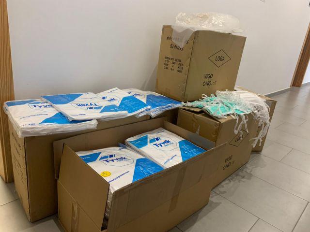 El Ayuntamiento de Lorca entrega 5.000 mascarillas protectoras a la gerencia del Área III de Salud - 2, Foto 2