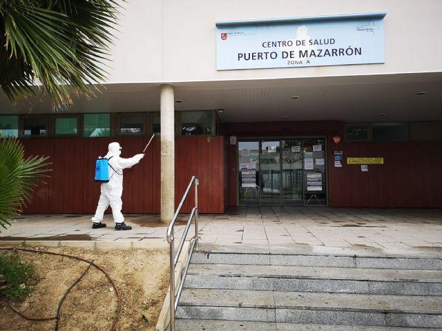 El ayuntamiento intensifica la desinfección y fumigación en Mazarrón, Puerto y pedanías contra el coronavirus, Foto 1