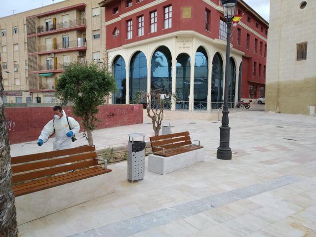 El ayuntamiento intensifica la desinfección y fumigación en Mazarrón, Puerto y pedanías contra el coronavirus, Foto 2