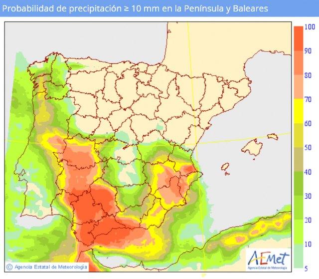Se inestabiliza el tiempo durante los próximos días, según informa Protección Civil Totana - 2, Foto 2