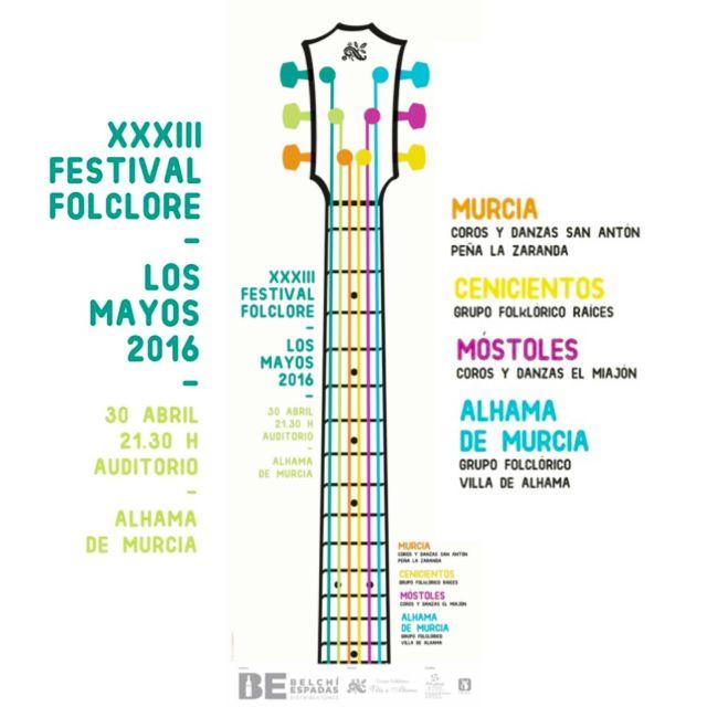 El G.F. Villa de Alhama presenta el XXXIII Festival de Folclore Los Mayos 2016, Foto 2