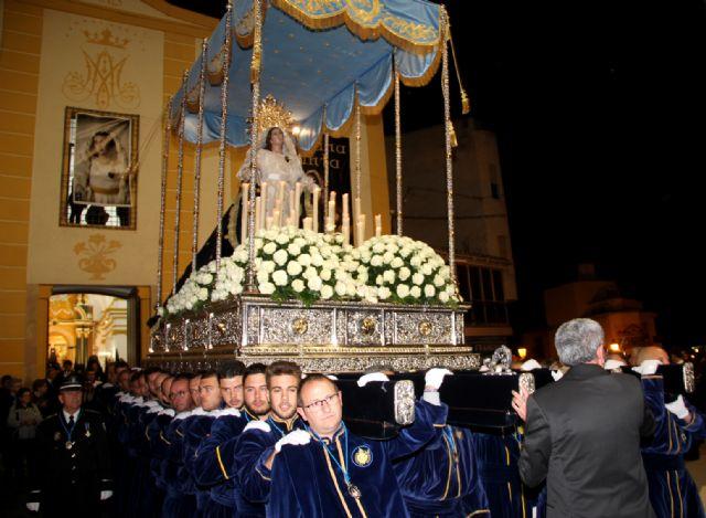 La Virgen de los Dolores mostró su esplendor  en la noche del Viernes Santo - 1, Foto 1