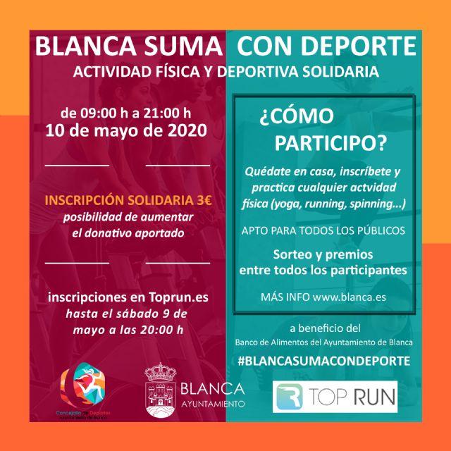 'Blanca suma con Deporte' el próximo 10 de mayo de 09:00 a 21:00 horas - 1, Foto 1