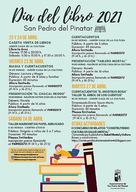 San Pedro del Pinatar celebra el día del libro con actividades de animación a la lectura y presentaciones con autores - 1, Foto 1