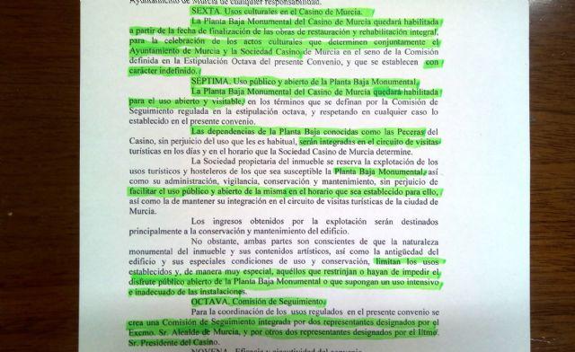 Ahora Murcia urge al PP a hacer que el Casino cumpla de una vez la ley de patrimonio y el convenio cultural - 2, Foto 2