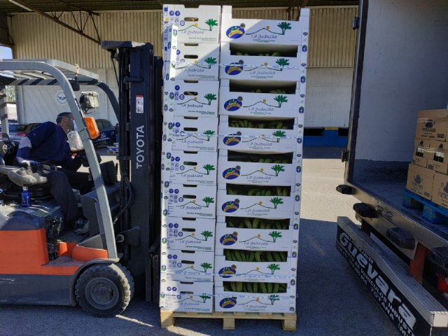 El Banco de Alimentos del Segura efect�a tres portes para la distribuci�n de alimentos a C�ritas de las Tres Avemar�as desde que comenz� la crisis sanitaria por el COVID-19, Foto 5