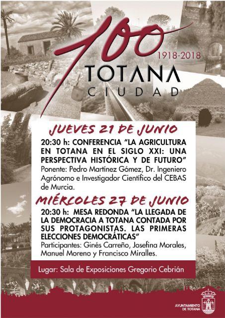 Organizan una conferencia sobre agricultura y una mesa redonda relacionada las primeras elecciones en Totana