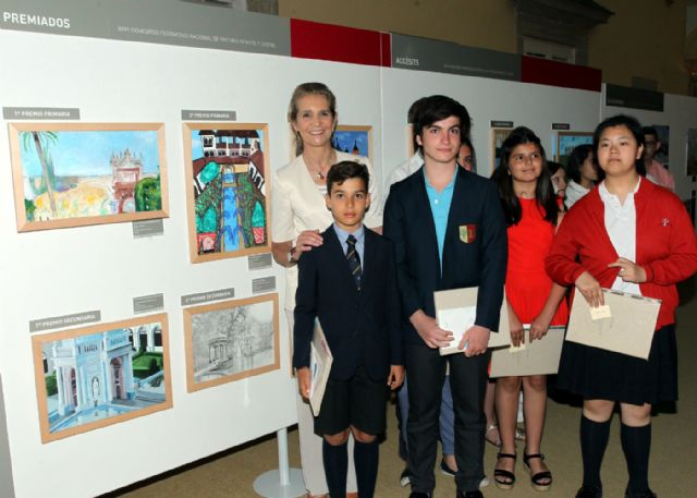 La alhameña Laura Paz recibe el 2° premio del Concurso de Pintura de Patrimonio Nacional de manos de la infanta Elena, Foto 1
