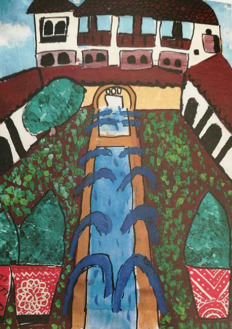 La alhameña Laura Paz recibe el 2° premio del Concurso de Pintura de Patrimonio Nacional de manos de la infanta Elena, Foto 3