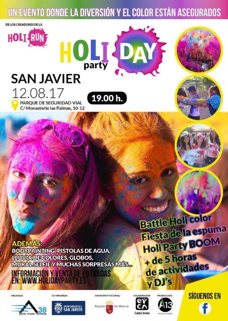 El Holiday Party llega a San Javier el 12 de agosto  con mucho color, espuma, diversión y música - 1, Foto 1