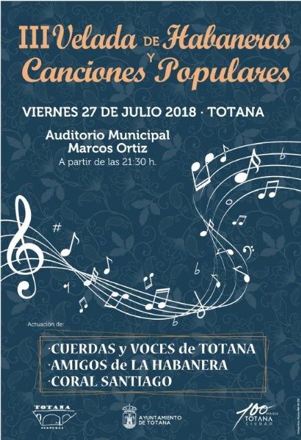 La III Velada de Habaneras y Canciones Populares tendrá lugar el viernes 27 de julio en el auditorio municipal Marcos Ortiz - 3, Foto 3