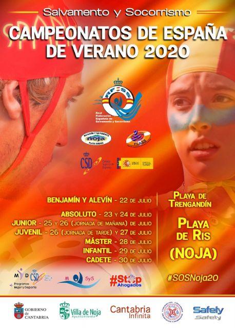 Cartel de los Campeonatos de España de Verano de Salvamento y Socorrismo #SOSNoja20, Foto 1