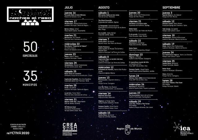 ´Noches al raso´ de Cultura cuenta esta semana con seis espectáculos en Caravaca de la Cruz, Lorca, Totana, Mula, Lorquí y Yecla - 1, Foto 1