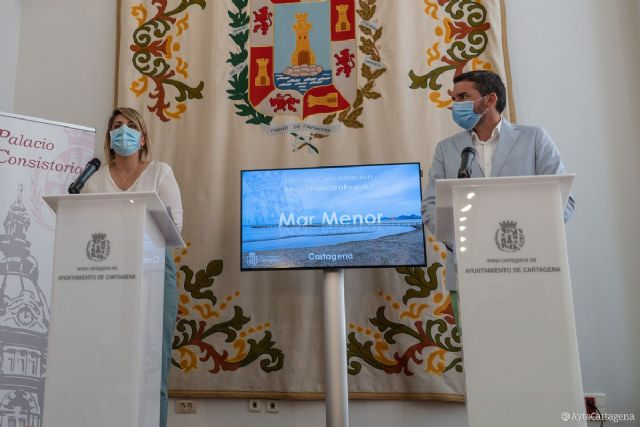 La Comunidad asume el proyecto de retirada de secos iniciado por el Ayuntamiento de Cartagena para recuperar el Mar Menor - 1, Foto 1