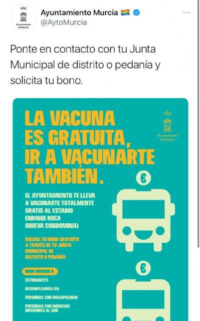 La coalición de izquierdas vuelve a mentir con publicidad engañosa sobre los bonos de transporte gratuitos para vacunarse - 1, Foto 1