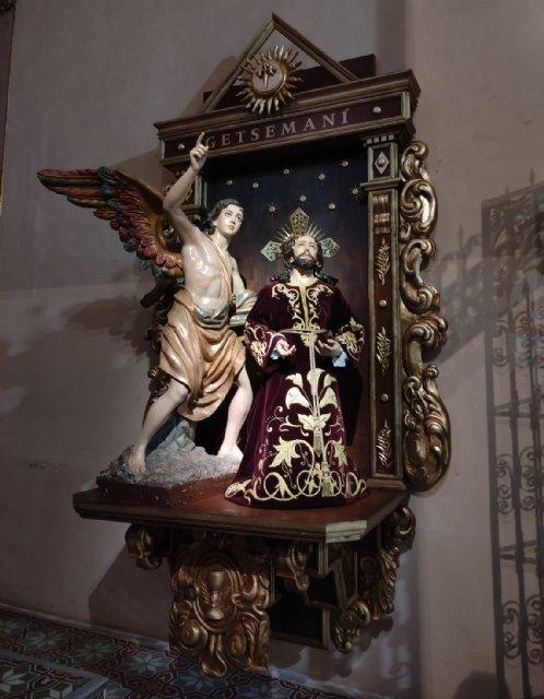 La Hdad. de la Oración en el Huerto estrena retablo en la Iglesia de Santiago el Mayor de Totana, Foto 2