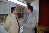 El alcalde de Mazarrón firma un convenio con el consejero de Política Social