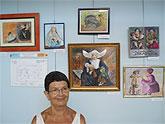 Concha Sánchez Lorente vuelve a exponer en el Centro de Día de Puerto de Mazarrón