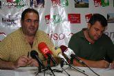 Los concejales de IU + Los verdes en Totana ofrecieron una rueda de prensa