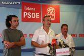 El PSOE de Totana insiste en que la primera medida ante la crisis y el nuevo curso es que Andreo se vaya