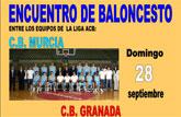 Alhama acoge el encuentro de baloncesto entre C.B. Murcia y C.B. Granada