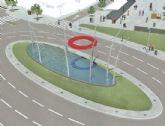 Rotonda en la intersección de la Avenida Juan Carlos I y la Rambla de La Santa