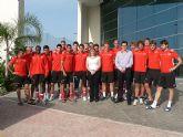 Los Ediles de Presidencia y Deportes visitan a la sub-21 Suiza
