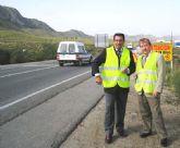 El director general de Carreteras visita las obras del tramo Mazarr�n-�guilas de la N-332, que permitir�n mejorar los accesos a la zona costera