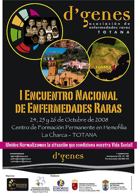 """Totana acogerá del 24 al 26 de octubre el """"I Encuentro Nacional de Enfermedades Raras, Foto 1"""