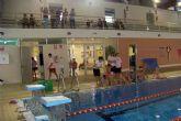 La piscina climatizada acogi� una exhibici�n de nataci�n sincronizada