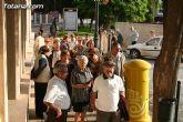 Autoridades municipales reciben en el Ayuntamiento a medio centenar de usuarios y profesionales del Centro Municipal de Personas Mayores de la localidad de Campos del Río