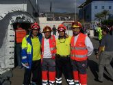 Cruz Roja Alhama participa en un simulacro de emergencia sanitaria