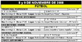 Agenda deportiva fin de semana  8 y 9 de Noviembre