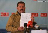 Según el PSOE el Alcalde de Totana miente con respecto a la deuda municipal