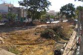 Comienzan las obras para proceder a la reforma del actual jardín de la Cruz Roja de Totana